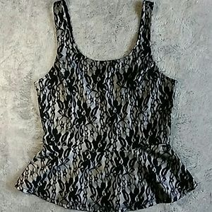 🆕 Express Black & White Lace Camisole.